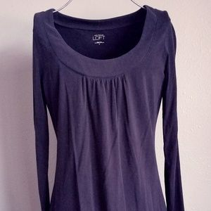 Ann Taylor Loft Ruched Front Long Sleeve Top